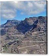 Landscape Amazing Canary Colors Mountains Acrylic Print