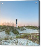 Sullivan's Island Dunes To Lighthouse View Acrylic Print