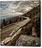 Linn Cove Viaduct During Winter Near Blowing Rock Nc Acrylic Print