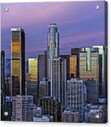 Los Angeles Skyline Sunset Acrylic Print