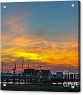Harbor Lowcountry Sunset Acrylic Print