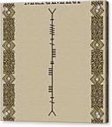 Macnamara Written In Ogham Acrylic Print