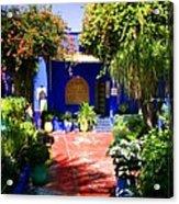 Majorelle Garden Marrakesh Morocco Acrylic Print