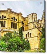 Malaga Cathedral In Andalusia Acrylic Print
