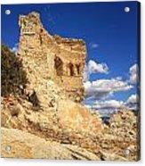 Martello Tower Near St Florent In Corsica Acrylic Print