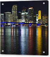 Miami Downtown Skyline Acrylic Print