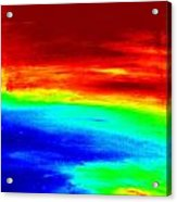 Modern Abstract Painting Original Canvas Art  Sunset By Zee Clark Acrylic Print