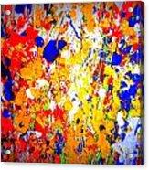 Modern Abstract Painting Original Canvas Art Wild By Zee Clark Acrylic Print