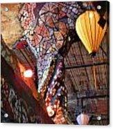 Mosaic Pillar Acrylic Print