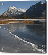 Mt. Rundle And Vermillion Lake Acrylic Print