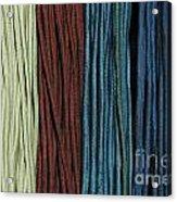 Multi-colored Striped Fabrics Acrylic Print