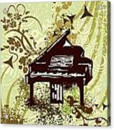 Musical Backgrounds With Instraments Acrylic Print