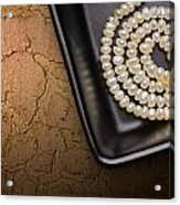 Natural Pearls Necklace Acrylic Print