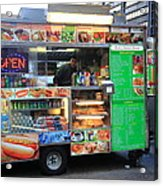 New York Street Vendor Acrylic Print