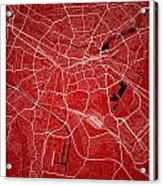 Nuremberg Street Map - Nuremberg Germany Road Map Art On Colored Acrylic Print