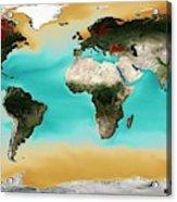 Ocean Carbonate Saturation Acrylic Print