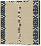 O'sullivan Written In Ogham Acrylic Print