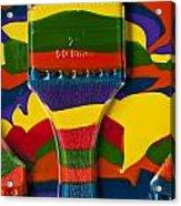 Paint Brushes Camouflaged Acrylic Print