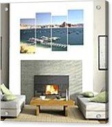 4-panel - Lake Powell Marina Acrylic Print
