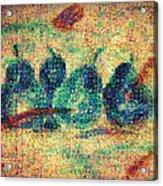 4 Pears Mosaic Acrylic Print