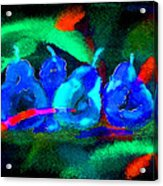 4 Pears Acrylic Print