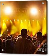 People On Music Concert Acrylic Print