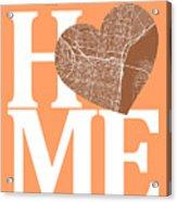 Philadelphia Street Map Home Heart - Philadelphia Pennsylvania R Acrylic Print