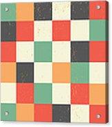 Pixel Art Square Acrylic Print