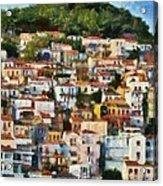 Plomari Town Acrylic Print