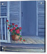 Porch Flowers Acrylic Print by Glenda Barrett
