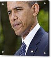 President Obama Acrylic Print by JP Tripp