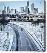 Rare Winter Scenery Around Charlotte North Carolina Acrylic Print