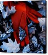 Red Gloves Acrylic Print