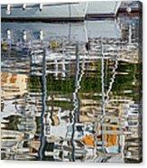 Reflections In Mikrolimano Port Acrylic Print