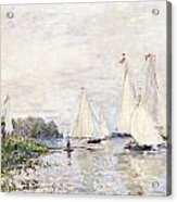 Regatta At Argenteuil Acrylic Print by Claude Monet
