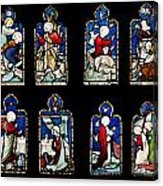 Religious Stained Glass Windows Acrylic Print