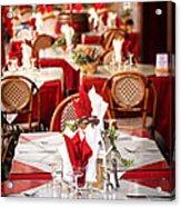 Restaurant Patio In France Acrylic Print