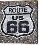 Route 66 Shield Acrylic Print