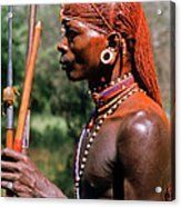 Samburu Warrior Acrylic Print