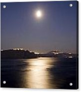 Santorini Moonlight Acrylic Print
