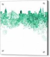 Sao Paulo Skyline In Watercolor On White Background Acrylic Print