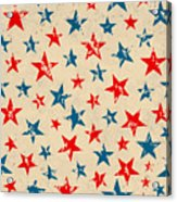 Seamless Pattern For 4th Of July Acrylic Print