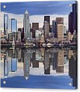 Seattle Skyline Waterfront Acrylic Print