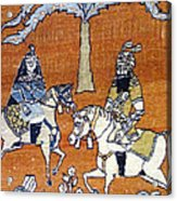 Shahnameh Ferdowsi Rostam And Sohrab Photos Of Persian Antique Rugs Kilims Carpets  Acrylic Print