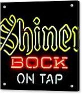 Shiner Bock On Tap Acrylic Print