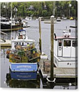 South Bristol And Fishing Boats On The Coast Of Maine Acrylic Print