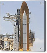 Space Shuttle Atlantis Twin Solid Acrylic Print
