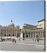 St Peter's Square. Vatican City. Rome. Lazio. Italy. Europe  Acrylic Print