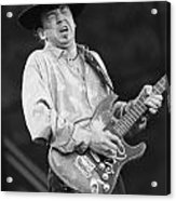 Guitarist Stevie Ray Vaughan Acrylic Print