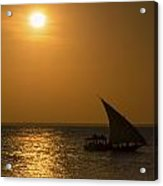 Sunset In Zanzibar - Kendwa Beach Acrylic Print